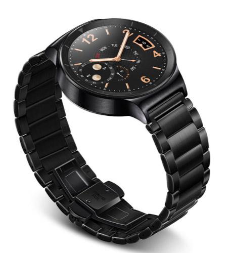 Huawei Watch темная сталь и черный блоковый, металлический браслет