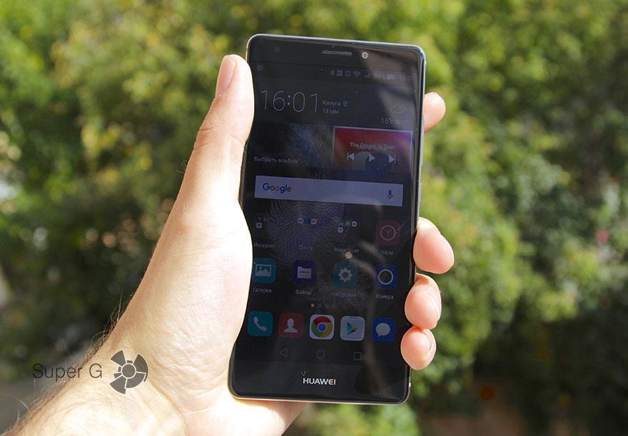 Дисплей Huawei Mate S на солнце