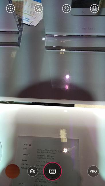 Интерфейс видоискателя камеры Nubia Z9