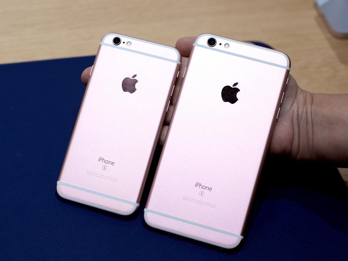 iPhone 6S розовый и iPhone 6S Plus розовый