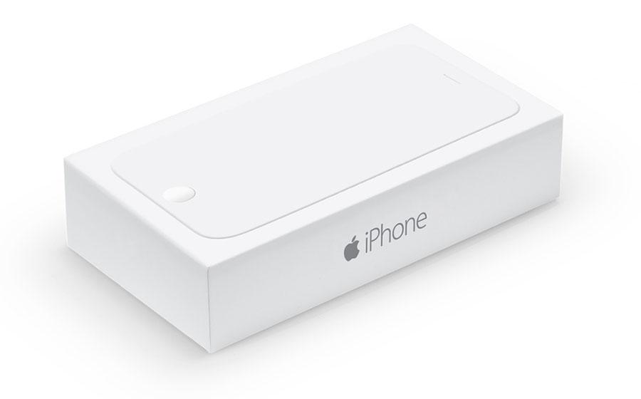 Белая коробка для iPhone 6 копия