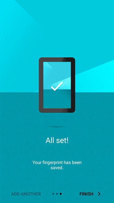 Добавление отпечатка завершено OnePlusTwo