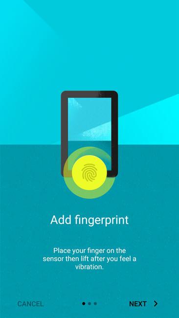 Добавление отпечатка пальца в систему OnePlusTwo