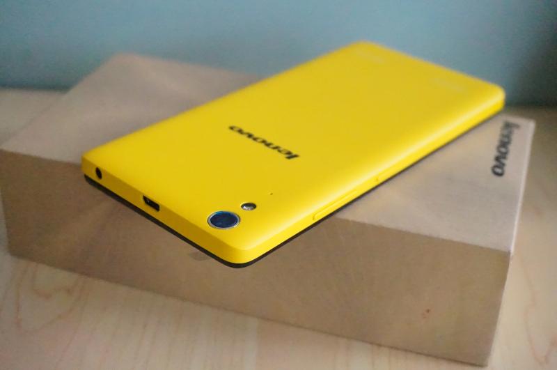 Желтый смартфон Lenovo K3 Note