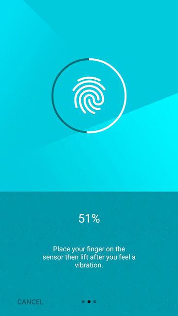 Первичный ввод отпечатка пальца в систему OnePlusTwo