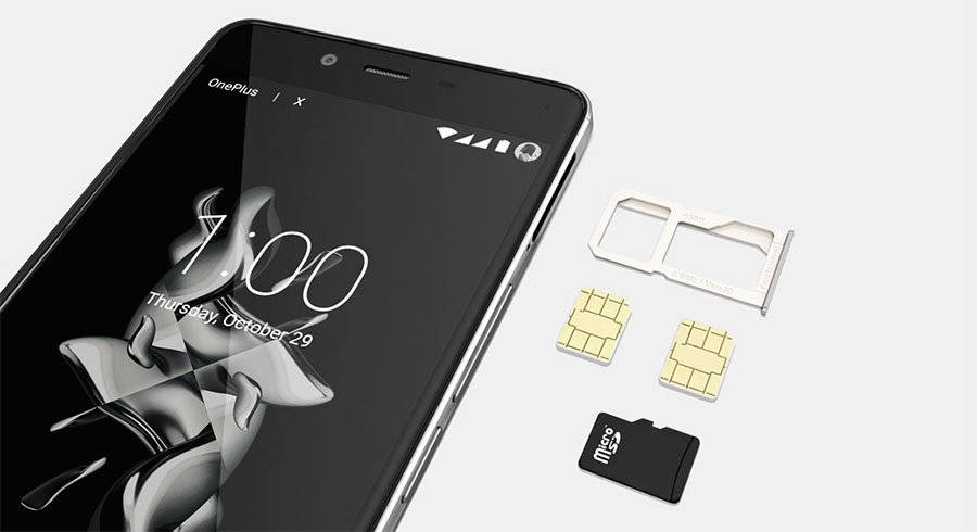 Поддержка OnePlus X двух SIM карт формата Nano