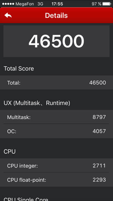 Системный тест AnTuTu iPhone 6