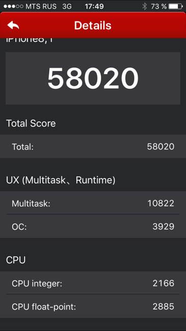 Системный тест AnTuTu iPhone 6S