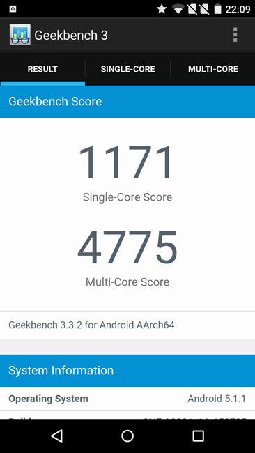 Тест Geekbench 3 и OnePlusTwo