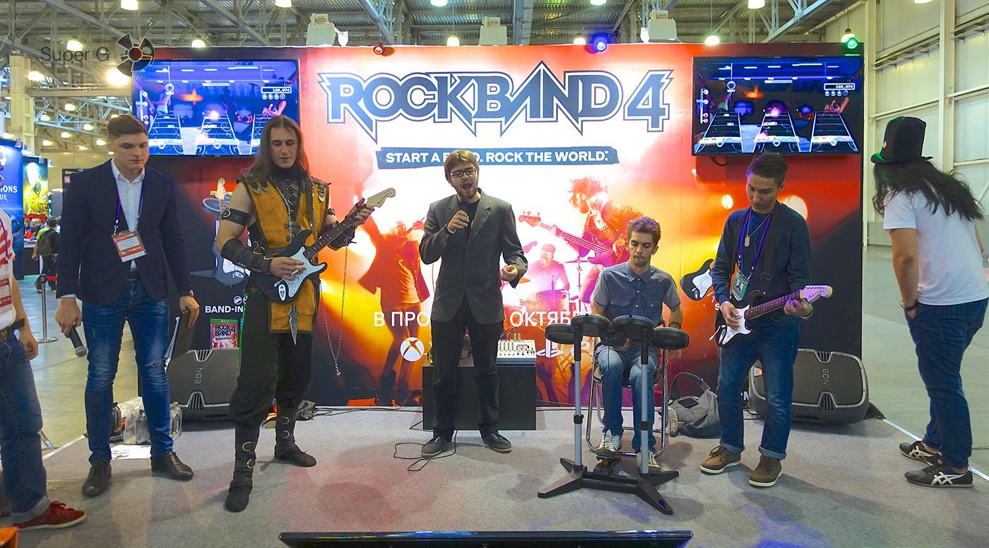 Игра в Rock Band 4
