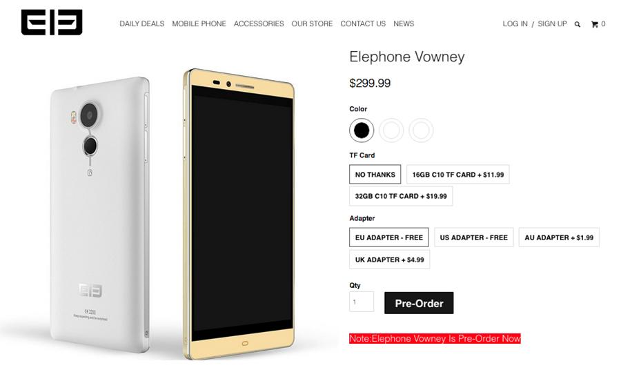 Elephone Vowney