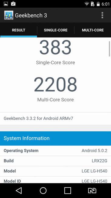 Geekbench 3 и LG G4 Stylus