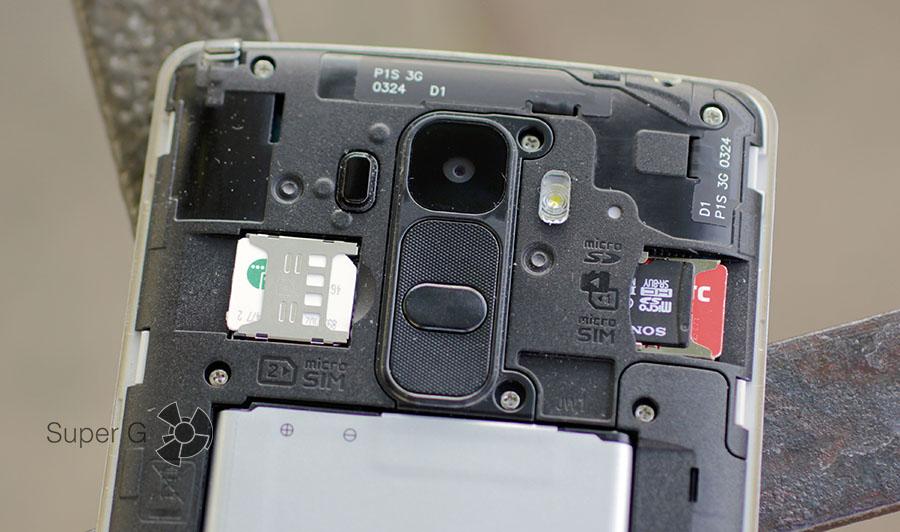 Поддержка двух SIM-карт (Dual LG G4 Stylus)