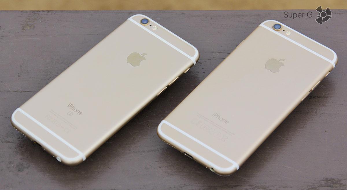 Золотые iPhone 6S и iPhone 6