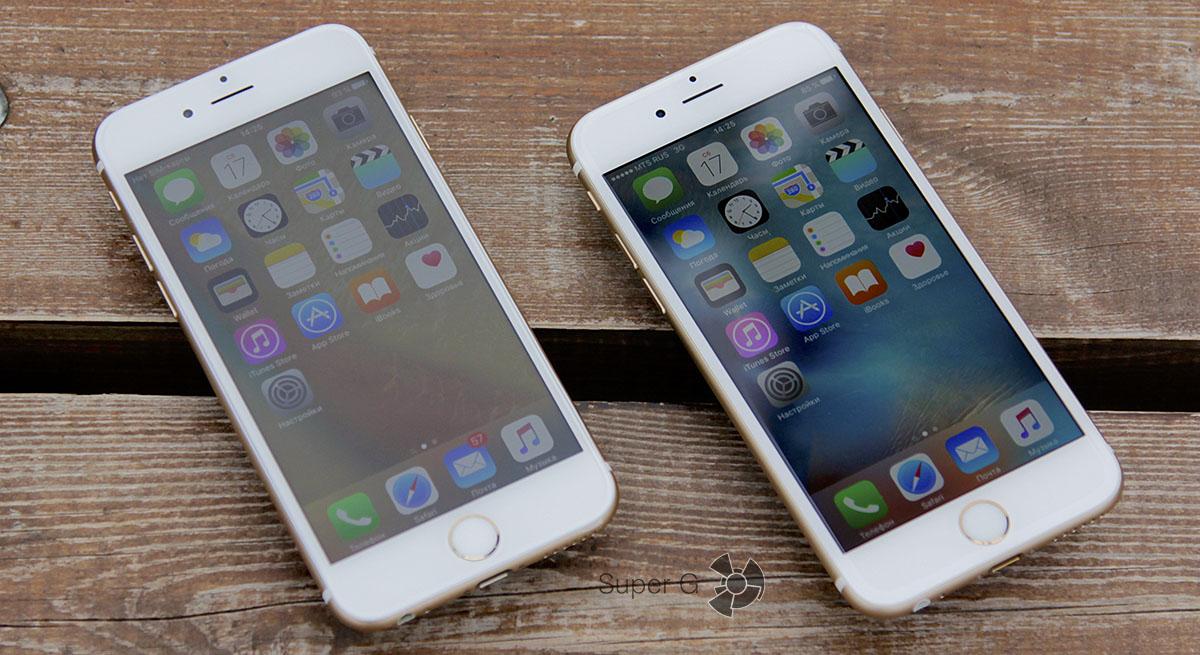Дисплеи iPhone 6S и iPhone 6