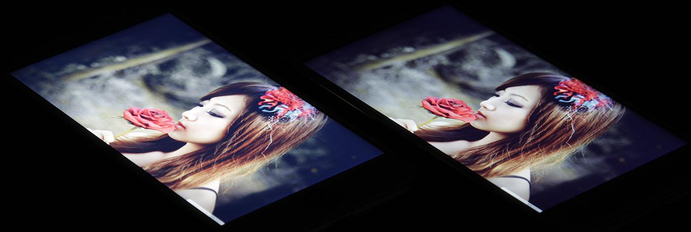 Экраны смартфонов от Apple (тон кожи)