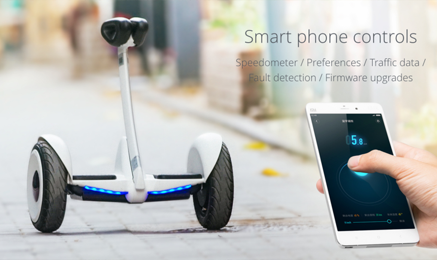Xiaomi Ninebot mini со смартфоном