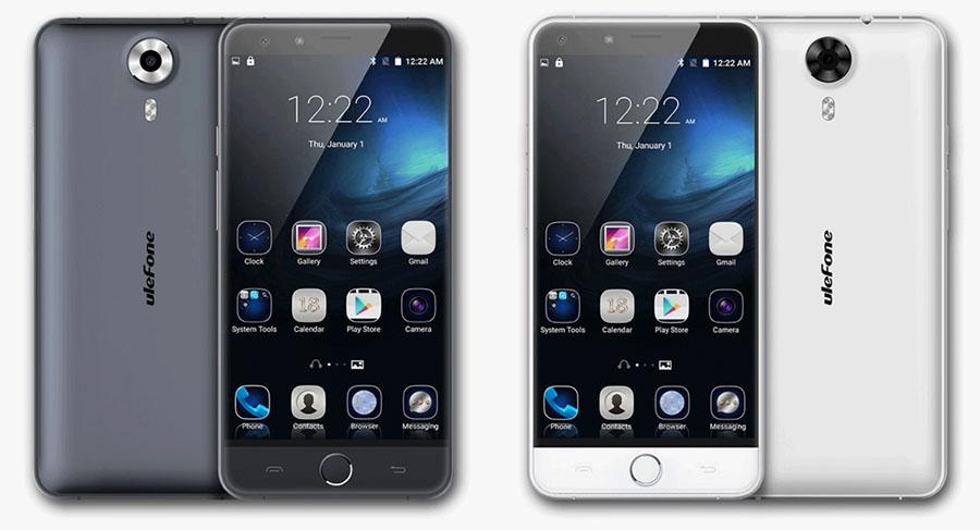 Белый и темно-серый Ulefone Be Touch 3