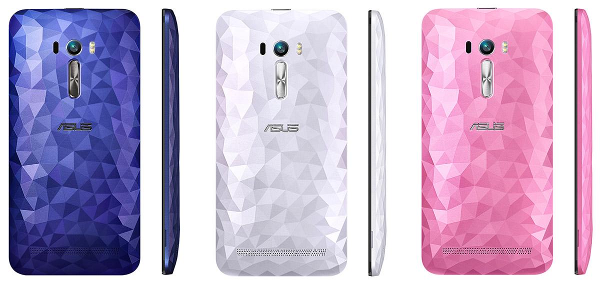 Ромбовидный, узорчатый смартфон Asus Zenfone Selfie