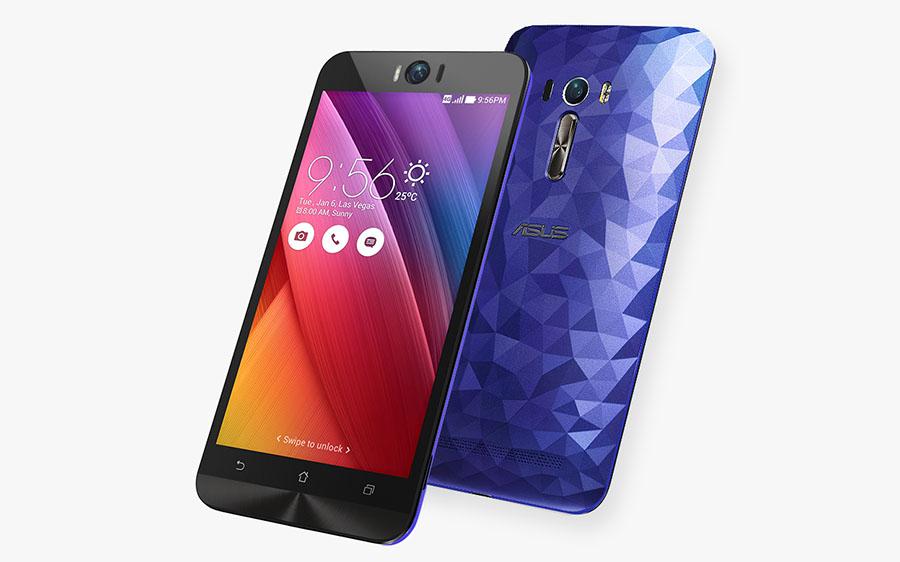 Темно-синий или фиолетовый Asus Zenfone Selfie