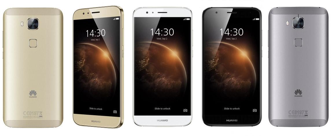 Цвета Huawei G8 (черный, золотой и серебристо-белый)