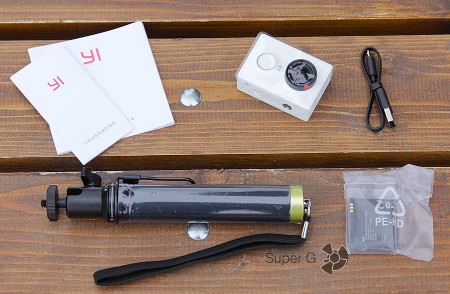 Xiaomi Yi расширенный комплект с моноподом