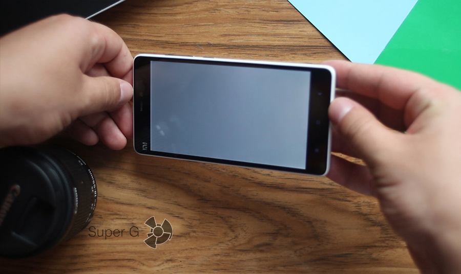 Xiaomi mi4c радуга на белом
