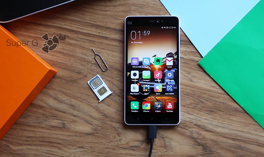 Xiaomi mi4c слот для sim
