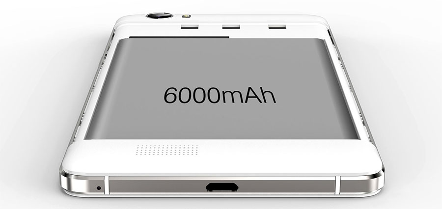 Аккумулятор на 6000 мАч в Oukitel K6000