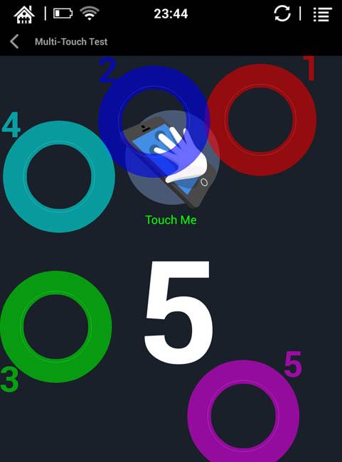 Дисплей Multitouch (5 касаний одновременно)