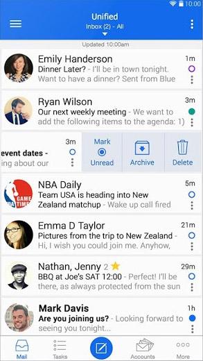 Интерфейс почтового приложения Почта Email - Type Mail