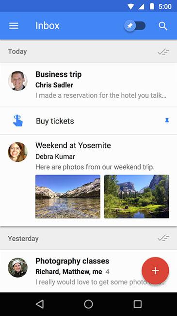 Сортировка писем в Inbox от Google