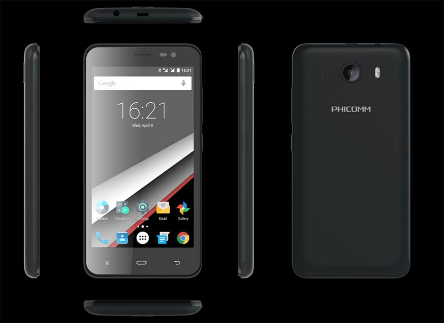 Черный смартфон Phicomm Clue 630