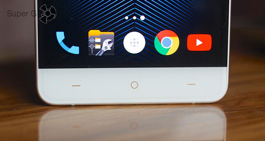 Сенсорные кнопки управления OnePlus X