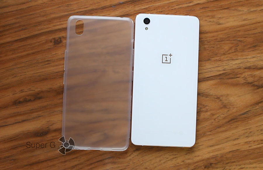 Прозрачный чехол или бампер для OnePlus X из комплекта