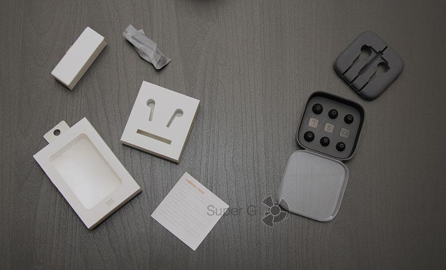 Комплектация наушников Xiaomi Hybrid со сменными амбушюрами