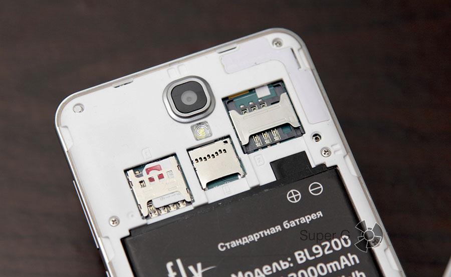 Fly Cirrus 2 FS504 поддерживает работу с двумя SIM-картами