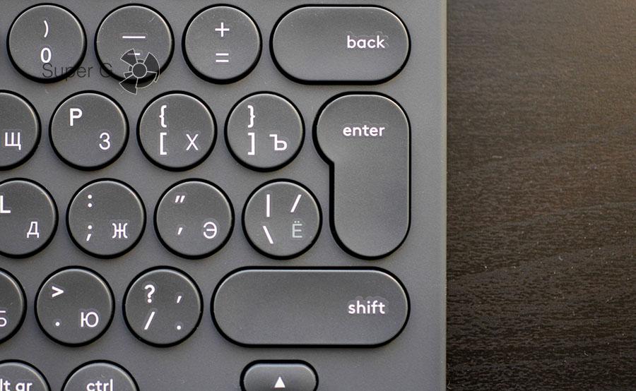 Кнопки в Logitech K380