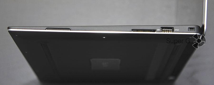 Правая сторона ноутбука