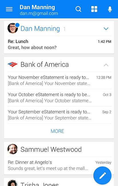 WeMail приложение почты для Android