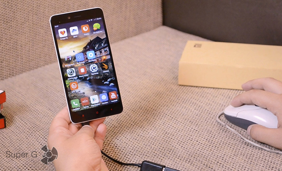 Xiaomi Redmi Note 2 подключение USB флешки и мышки
