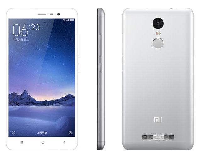 Бело-серебристый Xiaomi Redmi Note 3