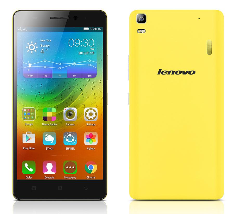Желтый Lenovo A7000