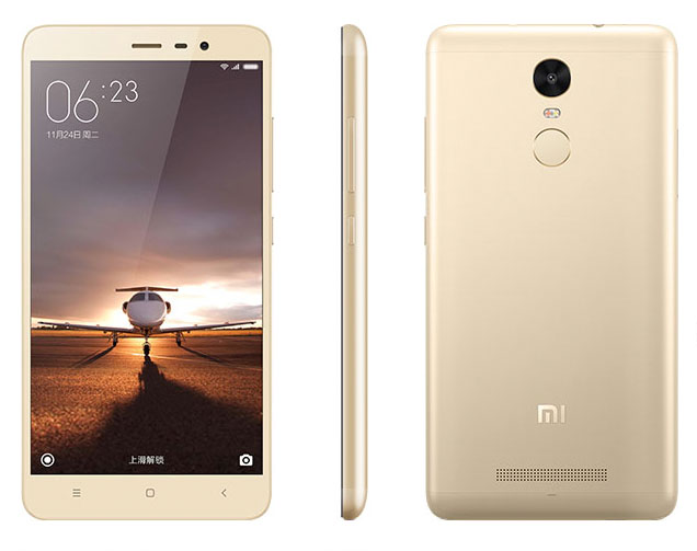 Золотой Xiaomi Redmi Note 3