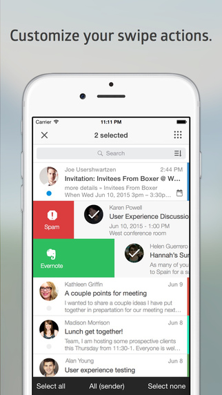 Почтовое приложение Boxer для iPhone (Lite)