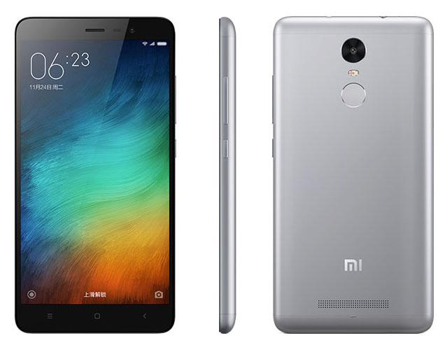Черно-серебристый Xiaomi Redmi Note 3