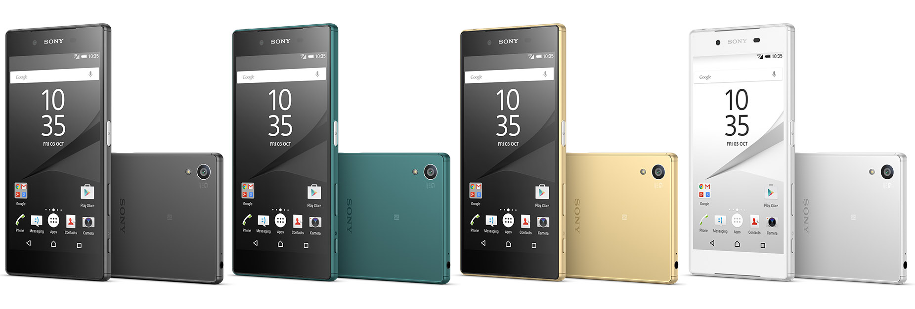 Черный, темно-зеленый, золотистый и белый Sony Xperia Z5