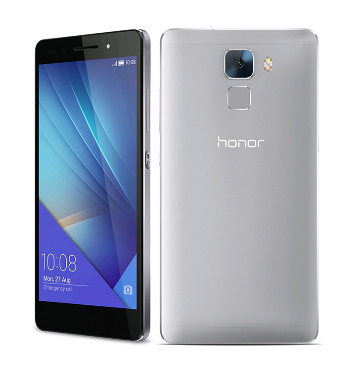 Huawei Honor 7 с пластиковыми вставками, прикрывающими антенны