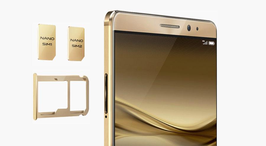 Huawei Mate 8 поддерживает две Nano SIM-карты