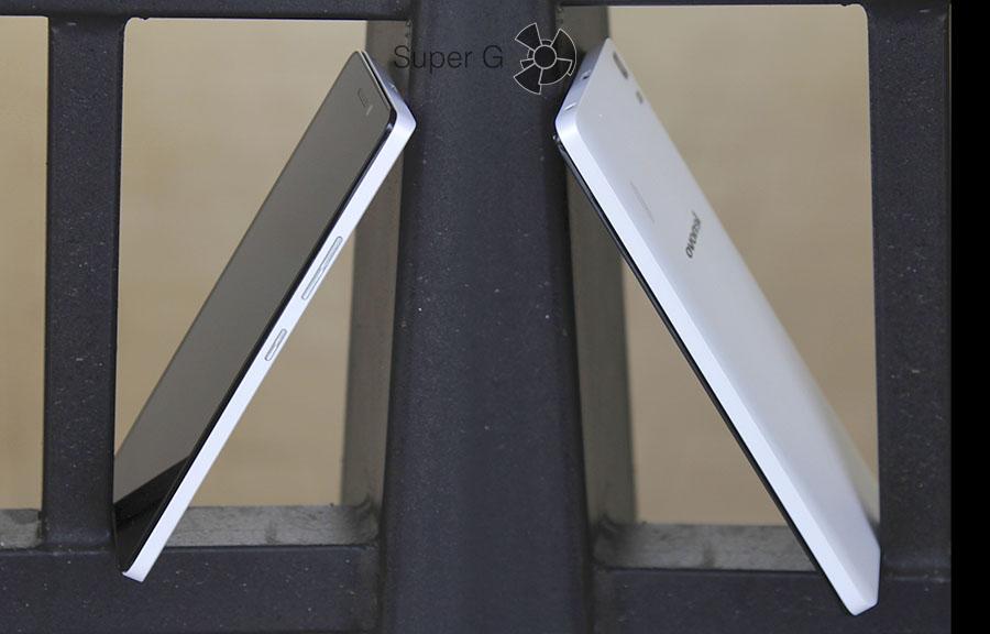 Боковые стороны смартфона Lenovo A7000